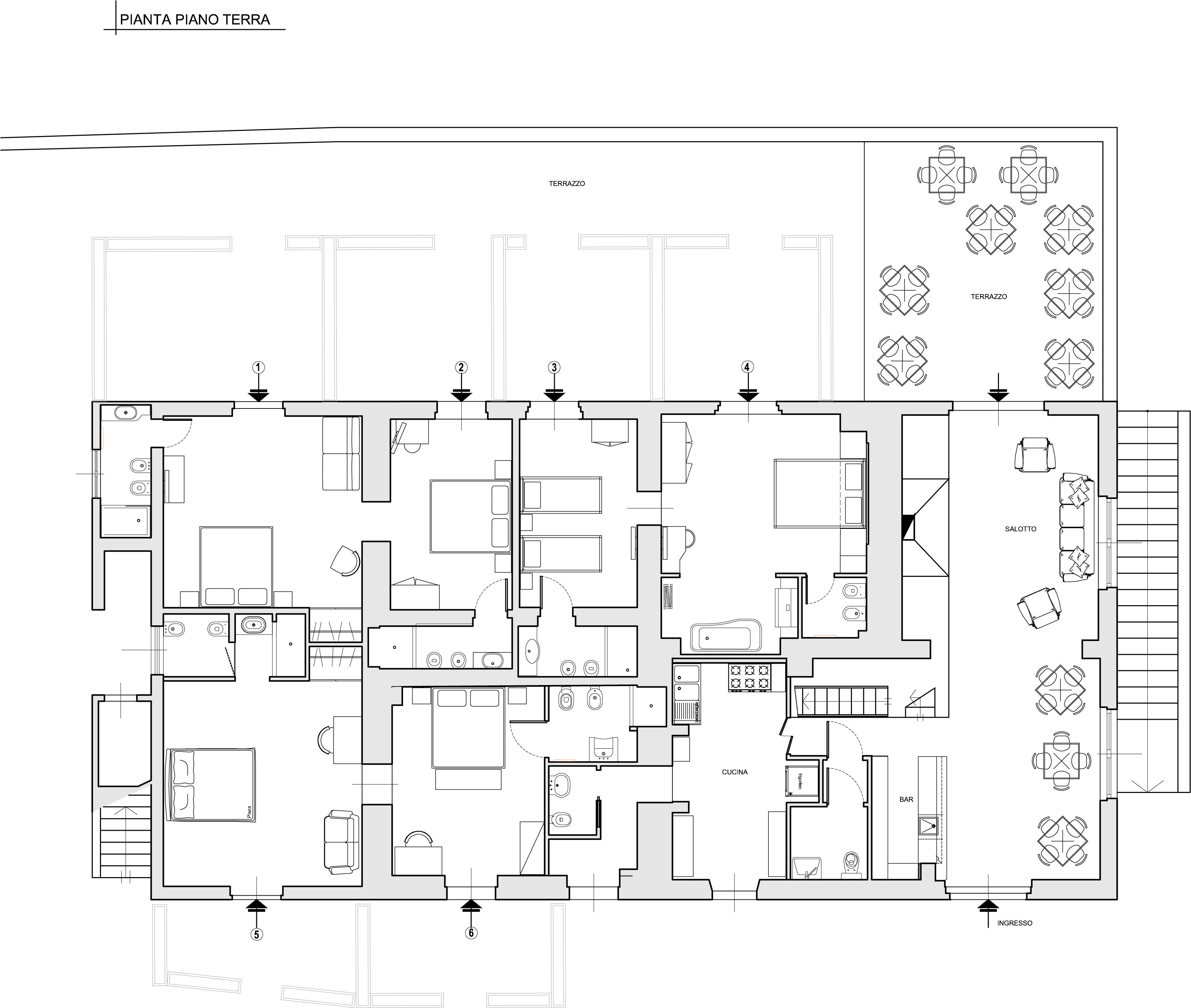 Relais in maremma for Semplice disegno del piano casa